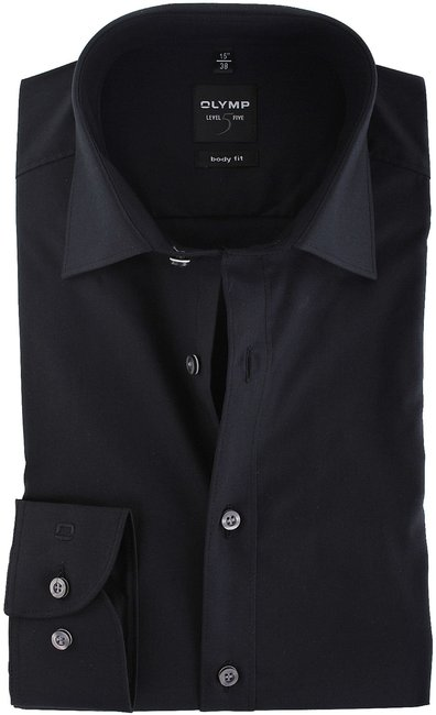 OLYMP-Level-Five-Overhemd-Body-Fit-Zwart