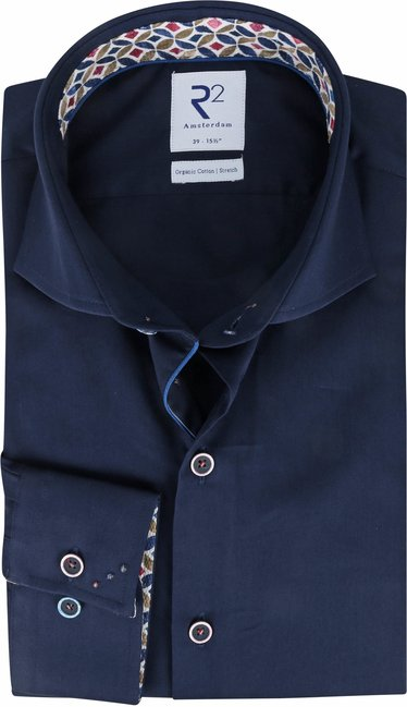 R2-Overhemd-Melange-Wol-Donkerblauw