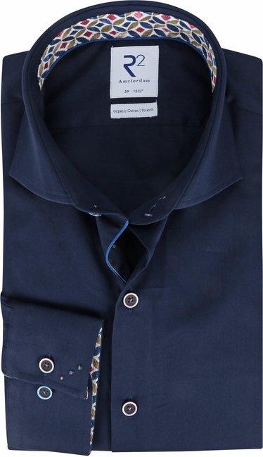 R2-Overhemd-Donkerblauw-Effen