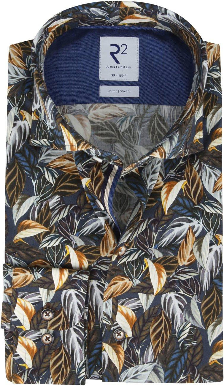 R2-Overhemd-Twist-Bloemen-Donkerblauw